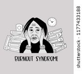 mental health. burnout syndrome.... | Shutterstock .eps vector #1177433188