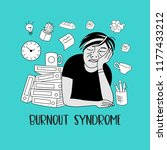 mental health. burnout syndrome.... | Shutterstock .eps vector #1177433212