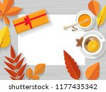 vector top view of autumn still ... | Shutterstock .eps vector #1177435342