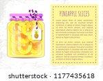 pineapple slices canned... | Shutterstock .eps vector #1177435618