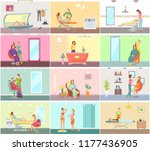 hair styling and receptionist... | Shutterstock .eps vector #1177436905