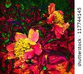 Art Grunge Floral Vintage...