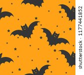 seamless halloween pattern with ... | Shutterstock .eps vector #1177441852