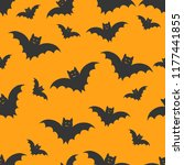 seamless halloween pattern with ... | Shutterstock .eps vector #1177441855