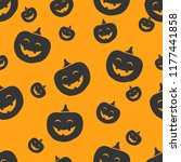 seamless halloween pattern with ... | Shutterstock .eps vector #1177441858