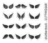 angels wings silhouettes set... | Shutterstock .eps vector #1177442668