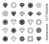 diamond or brilliants icons set.... | Shutterstock .eps vector #1177442698