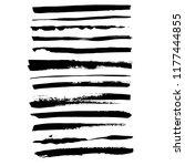 grunge ink brush strokes set.... | Shutterstock .eps vector #1177444855