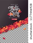 calligraphy of thanksgiving day ... | Shutterstock .eps vector #1177446928