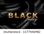 black friday sale banner layout ... | Shutterstock .eps vector #1177446982
