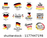 german unity day   tag der... | Shutterstock .eps vector #1177447198