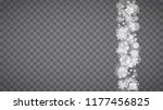 isolated snowflakes on... | Shutterstock .eps vector #1177456825