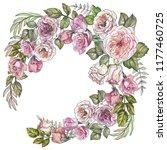 beautiful floral frame... | Shutterstock . vector #1177460725