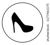 women shoe vector icon   Shutterstock .eps vector #1177461175