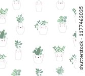 vector seamless pattern with... | Shutterstock .eps vector #1177463035