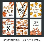 autumn sale card  illustration. ... | Shutterstock .eps vector #1177464952