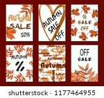 autumn sale card  illustration. ... | Shutterstock .eps vector #1177464955