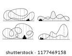 amusement park roller coaster... | Shutterstock . vector #1177469158