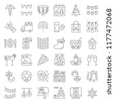 merry christmas icon set 3 ... | Shutterstock .eps vector #1177472068