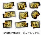 sale stickers set   biggest... | Shutterstock .eps vector #1177472548