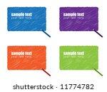 vector   grunge scribble of a... | Shutterstock .eps vector #11774782