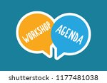 writing note showing workshop... | Shutterstock . vector #1177481038
