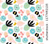 abstract seamless pattern with... | Shutterstock .eps vector #1177492135
