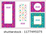 diwali colorful posters  ... | Shutterstock .eps vector #1177495375