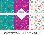 collection of diwali colorful... | Shutterstock .eps vector #1177495378