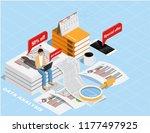 isometric flat design.concept... | Shutterstock .eps vector #1177497925
