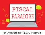 text sign showing fiscal... | Shutterstock . vector #1177498915
