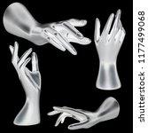 mannequin silver hand on... | Shutterstock . vector #1177499068