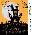suggestive hallowen party flyer ... | Shutterstock .eps vector #1177500418