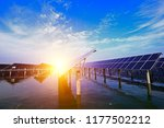 solar panels on the water | Shutterstock . vector #1177502212
