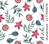 watercolor pattern with... | Shutterstock . vector #1177504678