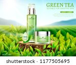 green tea skincare ads with... | Shutterstock .eps vector #1177505695
