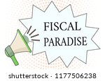 word writing text fiscal... | Shutterstock . vector #1177506238