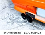 smoky exhaust pipe old car  ... | Shutterstock . vector #1177508425