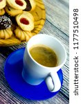 coffee and different types of... | Shutterstock . vector #1177510498