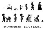 life cycle of a persons growing ... | Shutterstock .eps vector #1177512262