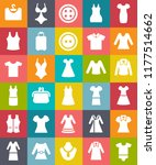 vector fashion clothing icons... | Shutterstock .eps vector #1177514662