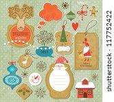 Set Of Vintage Christmas And...