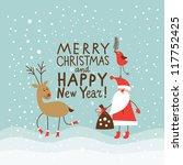 Greeting Christmas And New Yea...