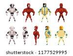 robot ostumes set  superhero... | Shutterstock .eps vector #1177529995