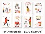 set of creative 8 journaling... | Shutterstock .eps vector #1177532905