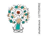 mental health symbol  ... | Shutterstock .eps vector #1177535902