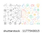 analytics and creativity in... | Shutterstock . vector #1177543015