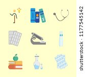 science vector icons set. books ... | Shutterstock .eps vector #1177545142