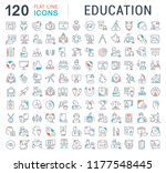set of vector line icons of... | Shutterstock .eps vector #1177548445