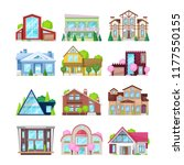 set of colorful country houses  ... | Shutterstock .eps vector #1177550155